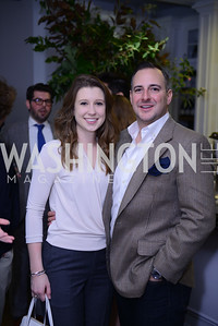 Morgan Gress, Brian Johnson, Photo by Ben Droz. White House Correspondents' House of Code Brunch hosted by Buzzfeed and App Developers Alliance. Kinship Restaurant. April 30, 2016.