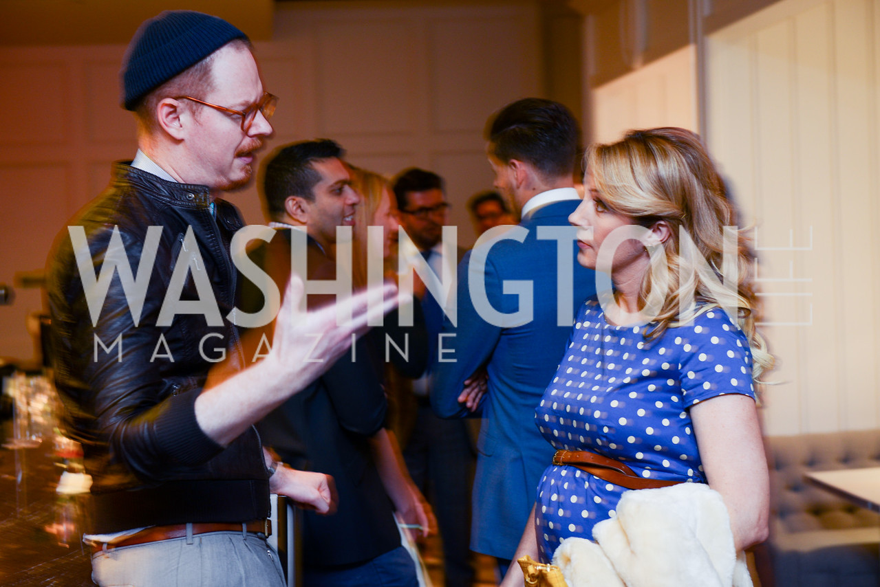 Dr. Eric Schultze, (L) Photo by Ben Droz. White House Correspondents' House of Code Brunch hosted by Buzzfeed and App Developers Alliance. Kinship Restaurant. April 30, 2016.