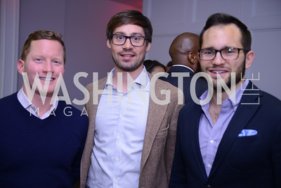 Carlton, Ian Reese, Patrick Henderson. Photo by Ben Droz. White House Correspondents' House of Code Brunch hosted by Buzzfeed and App Developers Alliance. Kinship Restaurant. April 30, 2016.