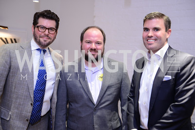 Mark Drapeau, Stephen Spiker, Geoff Lane. Photo by Ben Droz. White House Correspondents' House of Code Brunch hosted by Buzzfeed and App Developers Alliance. Kinship Restaurant. April 30, 2016.