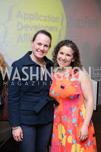 Carter Kidd Schildknecht, Rena Shapiro. Photo by Ben Droz. White House Correspondents' House of Code Brunch hosted by Buzzfeed and App Developers Alliance. Kinship Restaurant. April 30, 2016.
