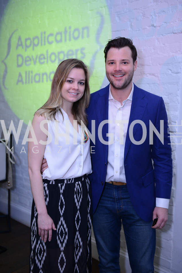 Sophie Pyle, Lucien Zeigler. Photo by Ben Droz. White House Correspondents' House of Code Brunch hosted by Buzzfeed and App Developers Alliance. Kinship Restaurant. April 30, 2016.