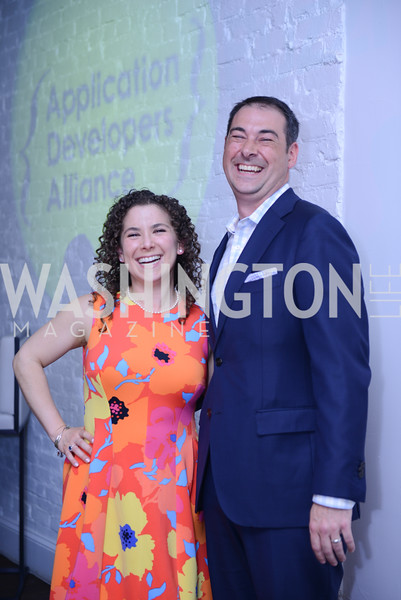 Rena Shapiro, Jake Ward. Photo by Ben Droz. White House Correspondents' House of Code Brunch hosted by Buzzfeed and App Developers Alliance. Kinship Restaurant. April 30, 2016.