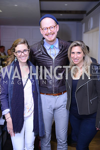 Tasha Chappellet-Lanier, Eric Schulze, Tara Silver. Photo by Ben Droz. White House Correspondents' House of Code Brunch hosted by Buzzfeed and App Developers Alliance. Kinship Restaurant. April 30, 2016.