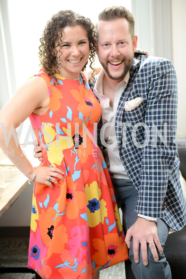Rena Shapiro, Matthew Dybwad. Photo by Ben Droz. White House Correspondents' House of Code Brunch hosted by Buzzfeed and App Developers Alliance. Kinship Restaurant. April 30, 2016.