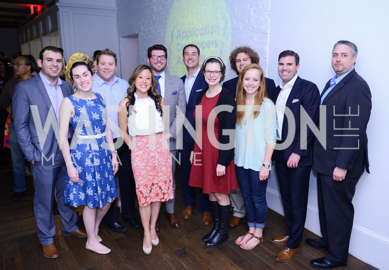 Application Developers Alliance in the restaurant below their new office space. Photo by Ben Droz. White House Correspondents' House of Code Brunch hosted by Buzzfeed and App Developers Alliance. Kinship Restaurant. April 30, 2016.