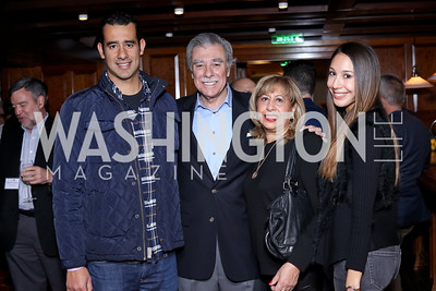 Carlos Gutierrez II, Sec. Carlos Gutierrez, Edilia and Karina Gutierrez. Photo by Tony Powell. CDA 10th Anniversary. Hamilton Live. November 13, 2016