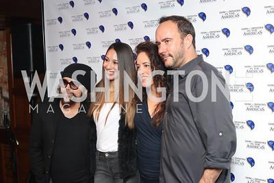 Carlos Varela, Karina Gutierrez, Sarah Abudene, Dave Matthews. Photo by Tony Powell. CDA 10th Anniversary. Hamilton Live. November 13, 2016