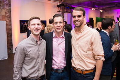 Chase Sanders, Kris Van Cleave, Jon Schadt. CNN Political Hangover. Photo by Joy Asico. Long View Gallery. May 1, 2016