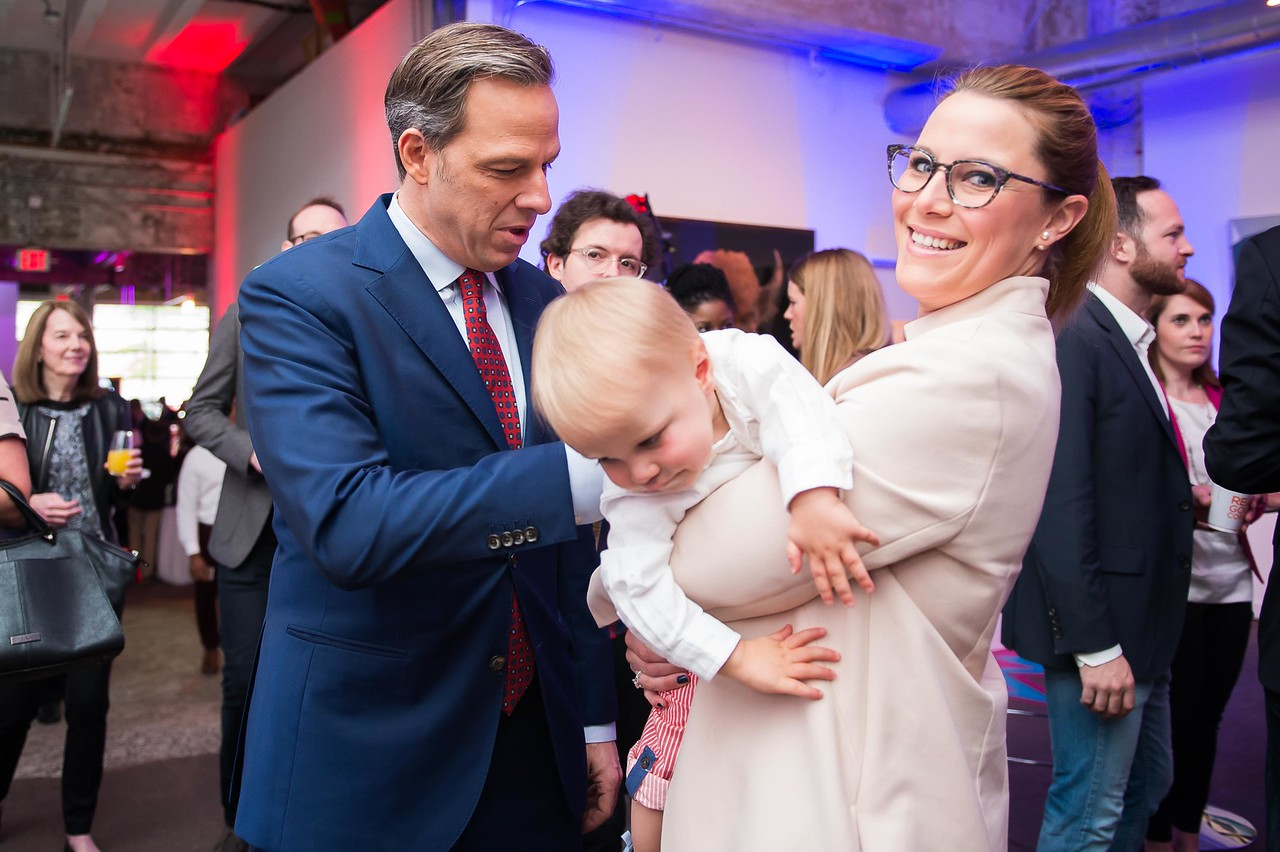 Jake Tapper and S.E. Cupp. CNN Political Hangover. Photo by Joy Asico. Long View Gallery. May 1, 2016
