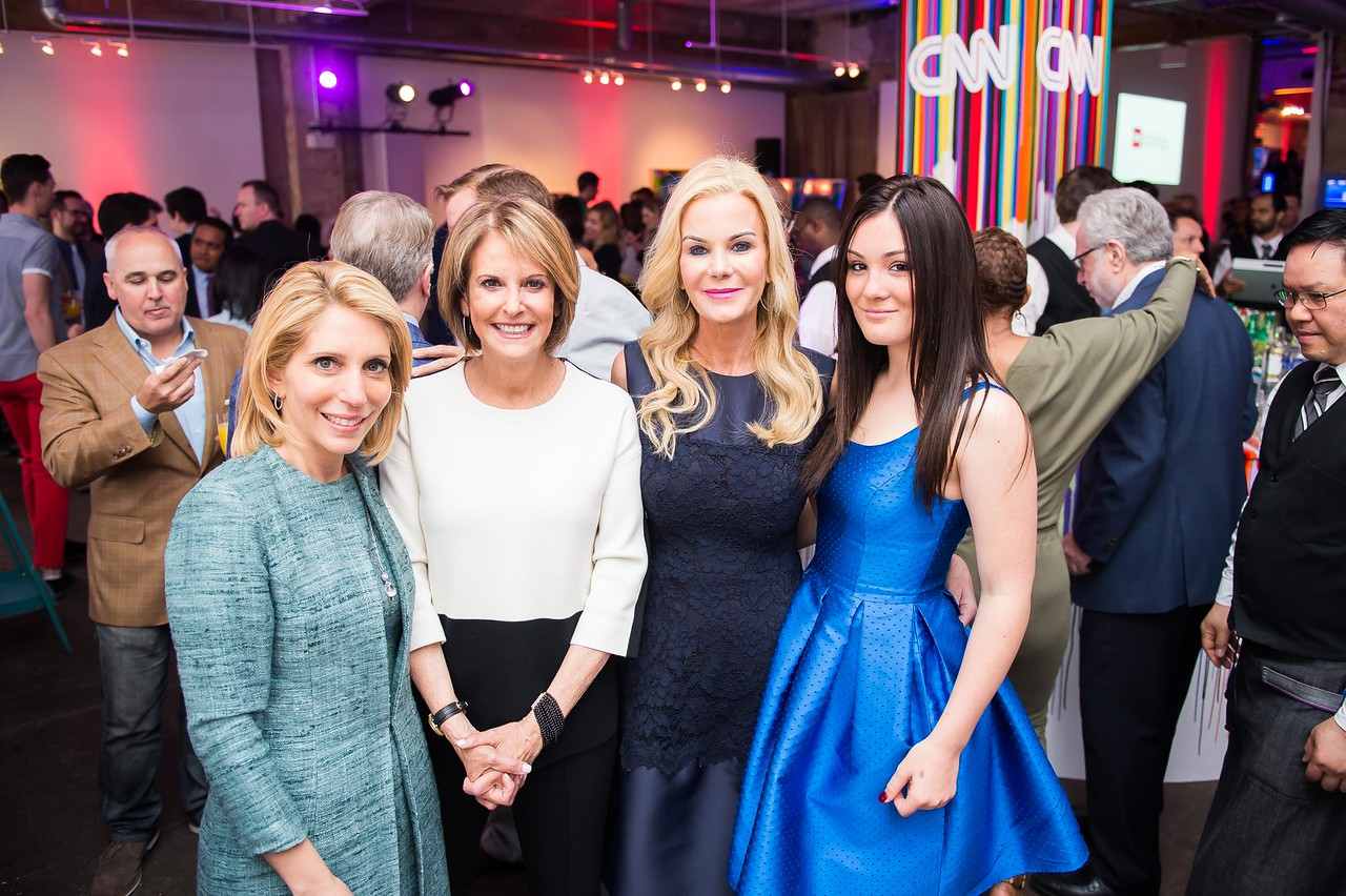 Dana Bash, Gloria Borger, Susanna Quinn, Jocelyn Quinn. CNN Political Hangover. Photo by Joy Asico. Long View Gallery. May 1, 2016