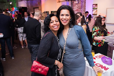 Megan Gaither and Fredricka Whitfield. CNN Political Hangover. Photo by Joy Asico. Long View Gallery. May 1, 2016