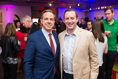 Jake Tapper and Rory Cooper. CNN Political Hangover. Photo by Joy Asico. Long View Gallery. May 1, 2016