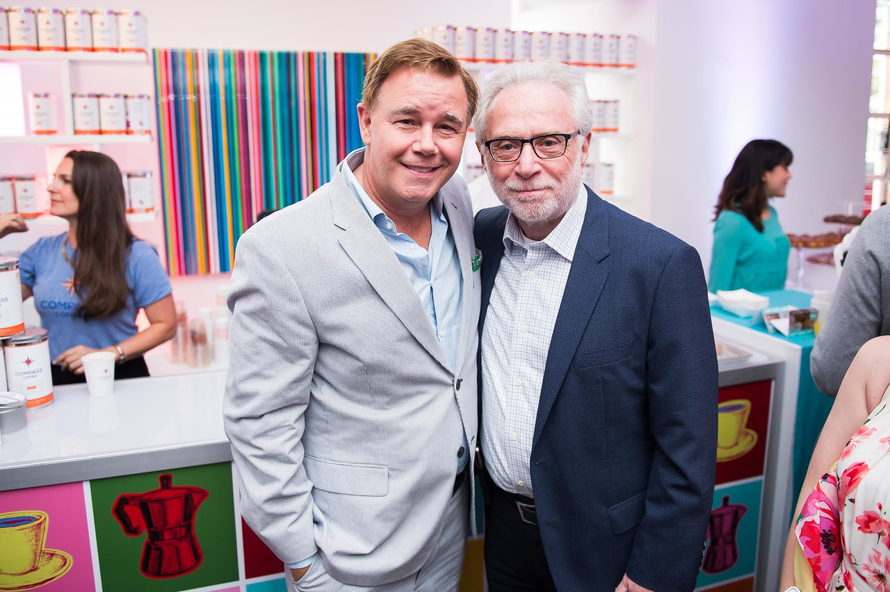 Spencer Garrrett and Wolf Blitzer. CNN Political Hangover. Photo by Joy Asico. Long View Gallery. May 1, 2016