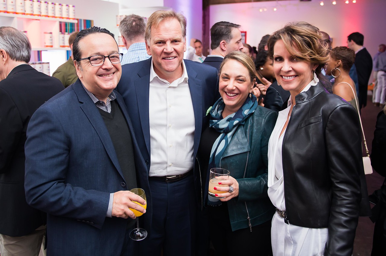 Len Amato, Mike Rogers, Elise Labott, Kristie Rogers. CNN Political Hangover. Photo by Joy Asico. Long View Gallery. May 1, 2016