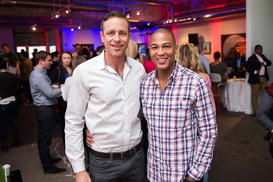 Craig Zebuda and Don Lemon. CNN Political Hangover. Photo by Joy Asico. Long View Gallery. May 1, 2016