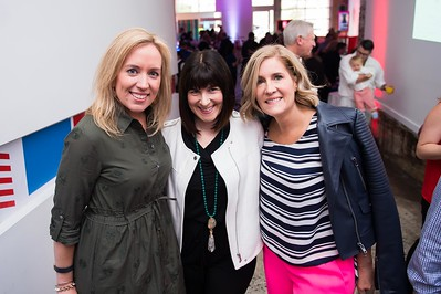 Kim Kinglsey, Amy Dacey, Elizabeth Thorp. CNN Political Hangover. Photo by Joy Asico. Long View Gallery. May 1, 2016