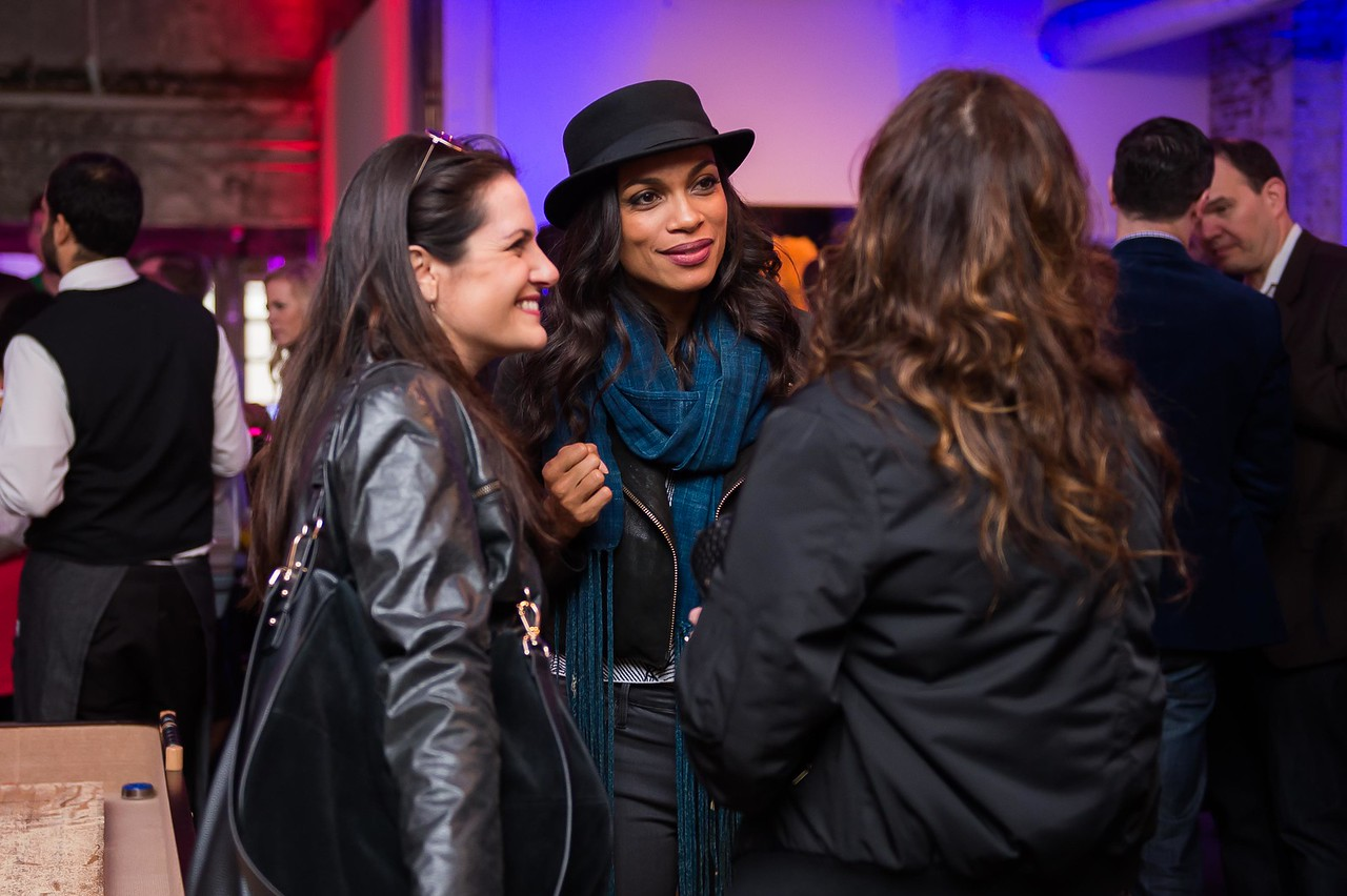 Rosario Dawson. CNN Political Hangover. Photo by Joy Asico. Long View Gallery. May 1, 2016