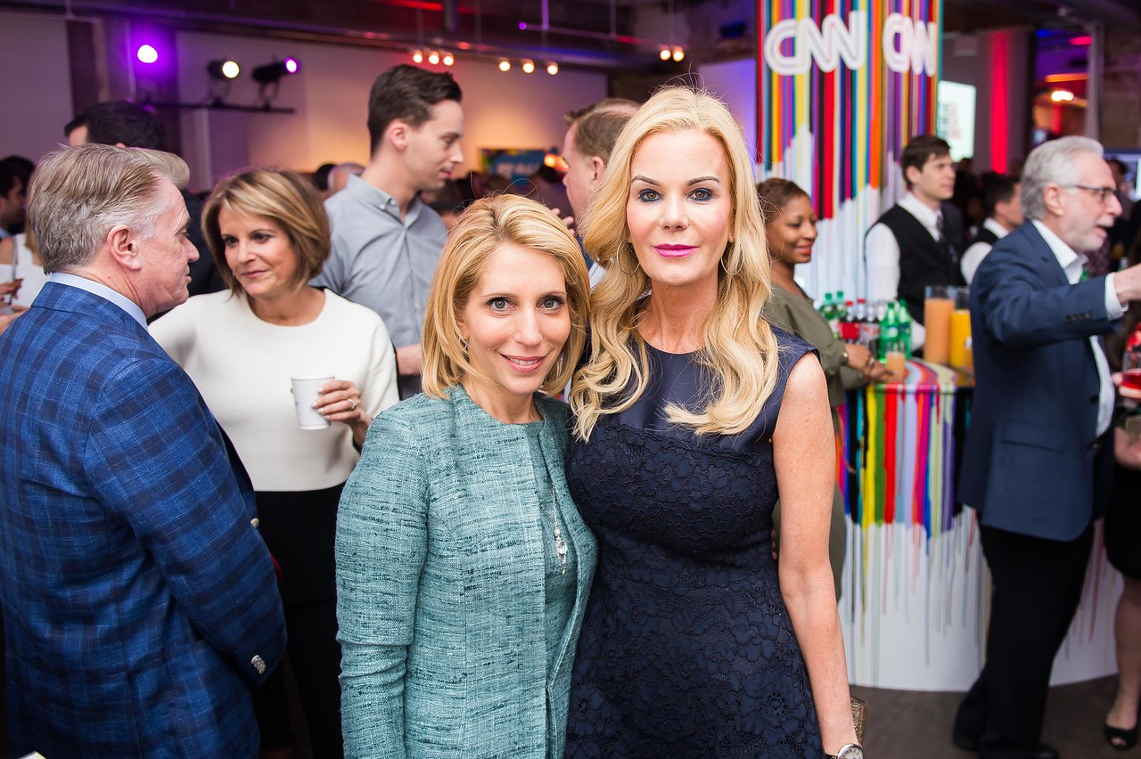 Dana Bash and Susanna Quinn. CNN Political Hangover. Photo by Joy Asico. Long View Gallery. May 1, 2016
