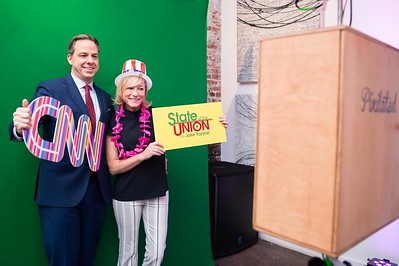 Jake Tapper and Jennifer Marie Brown. CNN Political Hangover. Photo by Joy Asico. Long View Gallery. May 1, 2016