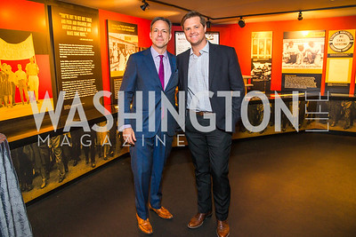 Jake Tapper, Chris Moody. Photo by Alfredo Flores. CNN Politics Campaign 2016 Like Share, Elect. Newseum. April 18, 2016