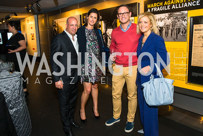 Jeff Zucker, Allison Gollust, Matt Dornic, Hillary Rosen. Photo by Alfredo Flores. CNN Politics Campaign 2016 Like Share, Elect. Newseum. April 18, 2016