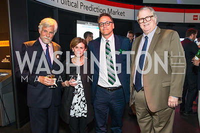 Joseph Keusch, Jan Neuharth, Scott Williams, Gene Policinski. Photo by Alfredo Flores. CNN Politics Campaign 2016 Like Share, Elect. Newseum.CR2