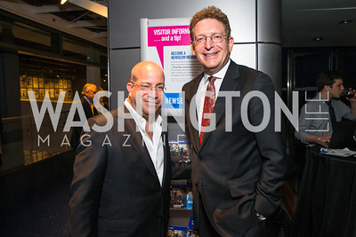 Jeffrey Herbst, Jeff Zucker. Photo by Alfredo Flores. CNN Politics Campaign 2016 Like Share, Elect. Newseum. April 18, 2016