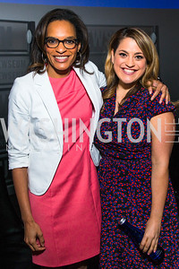 Nia-Malika Henderson, Ashley Codianni. Photo by Alfredo Flores. CNN Politics Campaign 2016 Like Share, Elect. Newseum. April 18, 2016