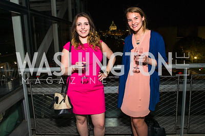 Deena Zeina Zaru, Amy Werner. Photo by Alfredo Flores. CNN Politics Campaign 2016 Like Share, Elect. Newseum. April 18, 2016