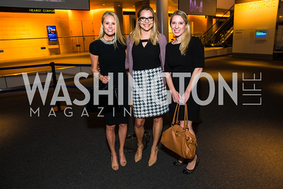 Lauren Culbertson, Becca Steele, Kristin Adderson. Photo by Alfredo Flores. CNN Politics Campaign 2016 Like Share, Elect. Newseum. April 18, 2016