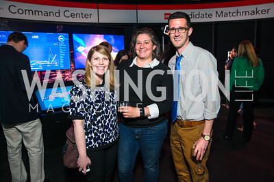 Dianna Heitz, Rebekah Metzler, Steven Sloan. Photo by Alfredo Flores. CNN Politics Campaign 2016 Like Share, Elect. Newseum. April 18, 2016