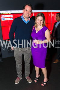 Ed O'Keefe, Emily Goodin. Photo by Alfredo Flores. CNN Politics Campaign 2016 Like Share, Elect. Newseum. April 18, 2016