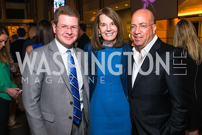 Carol A. Melton, Sam Fiest, Jeff Zucker, . Photo by Alfredo Flores. CNN Politics Campaign 2016 Like Share, Elect. Newseum. April 18, 2016