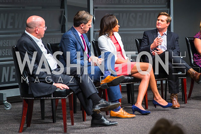 Jeff Zucker, Jake Tapper, Nia-Malika Henderson, Chris Moody, . Photo by Alfredo Flores. CNN Politics Campaign 2016 Like Share, Elect. Newseum. April 18, 2016