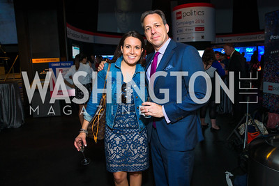 Lauren Pratapas, Jake Tapper. Photo by Alfredo Flores. CNN Politics Campaign 2016 Like Share, Elect. Newseum. April 18, 2016