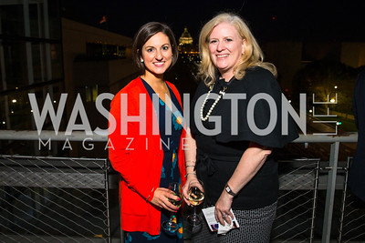 Megan Whittemore, Deirdre Walsh. Photo by Alfredo Flores. CNN Politics Campaign 2016 Like Share, Elect. Newseum. April 18, 2016