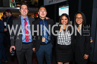 Jayson Braude, Richard Park, Negin Nesh, Amanda Truong. Photo by Alfredo Flores. CNN Politics Campaign 2016 Like Share, Elect. Newseum. April 18, 2016