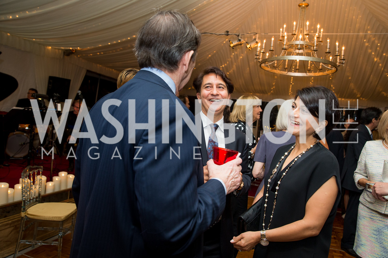 Amb. Said Jawad, Shamim Jawad. Photo by Erin Schaff. Cafritz Cocktails. The Home of Jane and Calvin Cafritz. September 10, 2016.