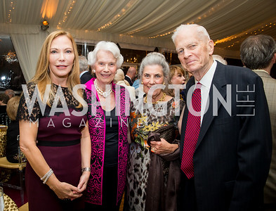 Susan Carmel, Marjorie Billington, Barby Allbritton, Jim Billington. Photo by Erin Schaff. Cafritz Cocktails. The Home of Jane and Calvin Cafritz. September 10, 2016.