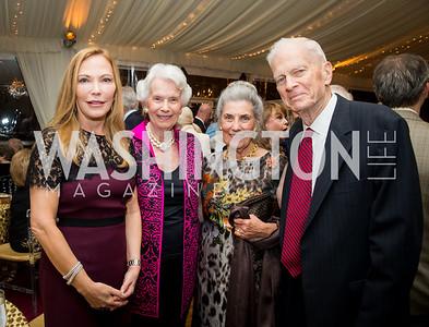 Susan Carmel, Marjorie Billington, Barby Allbritton, Jim Billington. Photo by Erin Schaff. Cafritz Cocktails. The Home of Jane and Calvin Cafritz. September 10, 2016.