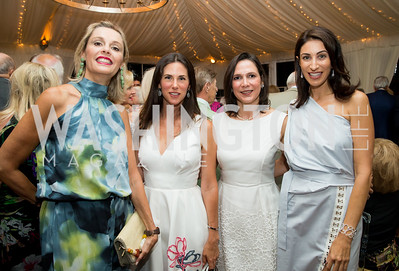 Maria Benilde Ortiz, Veronica Valencia-Sarukhan, Luciana Gonzalez Revilla, Jennifer Camel-Toueg. Photo by Erin Schaff. Cafritz Cocktails. The Home of Jane and Calvin Cafritz. September 10, 2016.