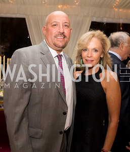 Andy and Carla Kameros. Photo by Erin Schaff. Cafritz Cocktails. The Home of Jane and Calvin Cafritz. September 10, 2016.