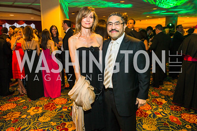 Karina Corell-Mallona , Bob Hisaoka. Photo by Alfredo Flores. Catholic Charities Gala 2016. Washington Marriott Wardman Park Hotel. April 30, 2016