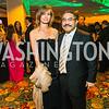 Karina Corell-Mallona , Bob Hisaoka. Photo by Alfredo Flores. Catholic Charities Gala 2016. Washington Marriott Wardman Park Hotel. April 30, 2016