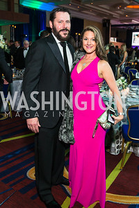Ricky Hahn, Sarah Hahn. Photo by Alfredo Flores. Catholic Charities Gala 2016. Washington Marriott Wardman Park Hotel. April 30, 2016