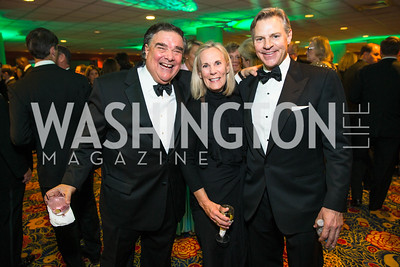 Davis Camalier, Lynda Camalier, James V. Reyes, Photo by Alfredo Flores. Catholic Charities Gala 2016. Washington Marriott Wardman Park Hotel. April 30, 2016