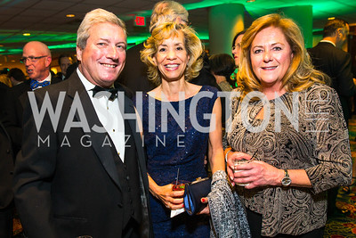 Jay Robertson, Carolyn Tabb, Andrea Steele. Photo by Alfredo Flores. Catholic Charities Gala 2016. Washington Marriott Wardman Park Hotel. April 30, 2016