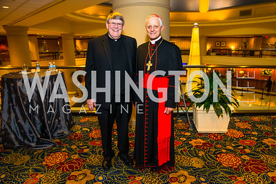 Msgr. John J. Enzler, Cardinal Wuerl. Photo by Alfredo Flores. Catholic Charities Gala 2016. Washington Marriott Wardman Park Hotel. April 30, 2016