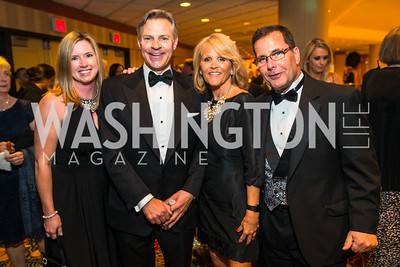 Leslie Cunningham,  James V. Reyes, Dave Jacobin, Laura Jacobin. Photo by Alfredo Flores. Catholic Charities Gala 2016. Washington Marriott Wardman Park Hotel. April 30, 2016